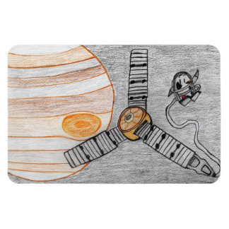 """Juno reaches Jupiter"" Magnet (4""x6"")"
