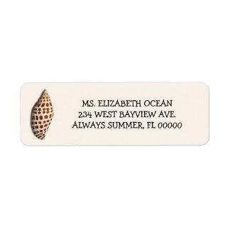Junonia Seashell Cream Custom Return Address Return Address Label