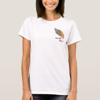 Junonia shell Sanibel Island humor ladies tee