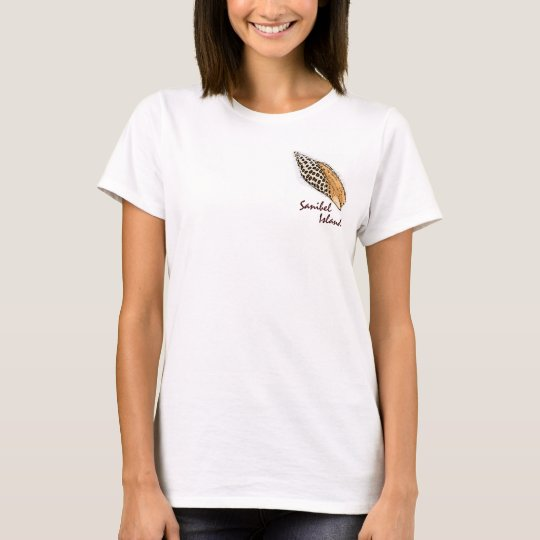 Junonia shell Sanibel Island humour ladies tee