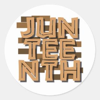 JUNTEENTH CLASSIC ROUND STICKER
