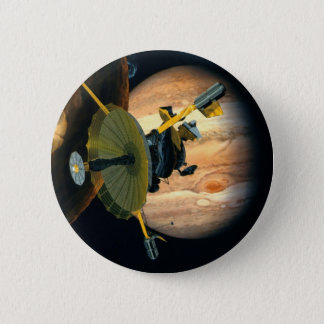 Jupiter and Lo Galileo probe 2 Inch Round Button