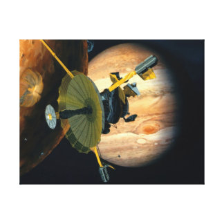 Jupiter and Lo Galileo probe Canvas Print