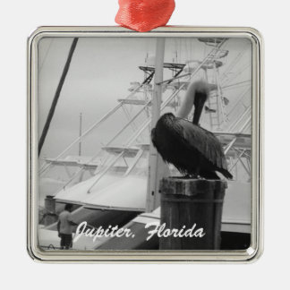 Jupiter, Florida Pelican & Boat photo Ornament