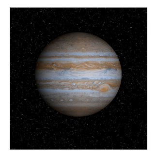 Jupiter in a Star Field - Resizeable Poster