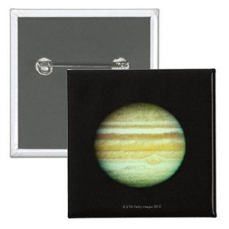 Jupiter in True Color 2 Inch Square Button