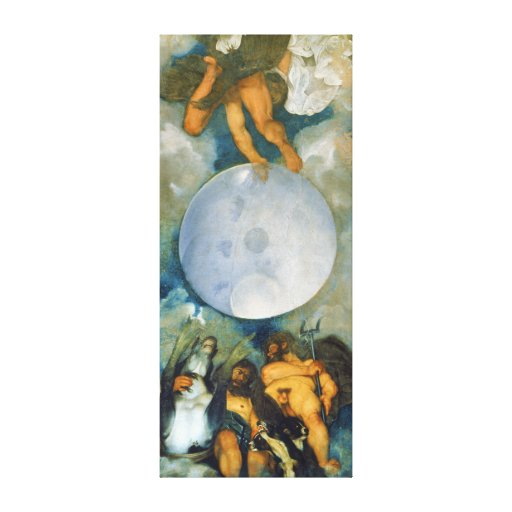 Jupiter Neptune and Pluto by Caravaggio in 1597 Canvas Print