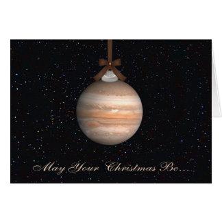 Jupiter Planet Christmas Greeting Card