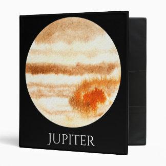 Jupiter Planet Watercolor Binder