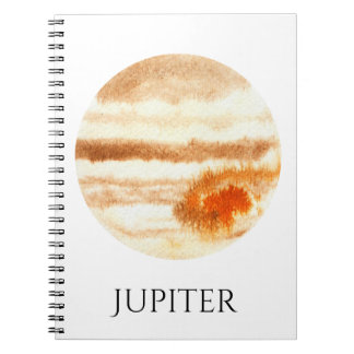 Jupiter Planet Watercolor Notebook