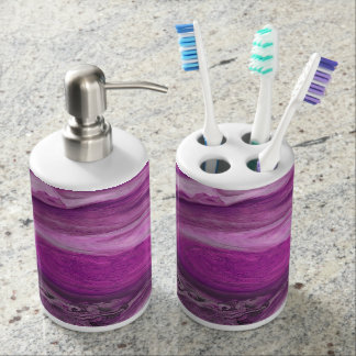 Jupiter Storm Soap Dispenser And Toothbrush Holder