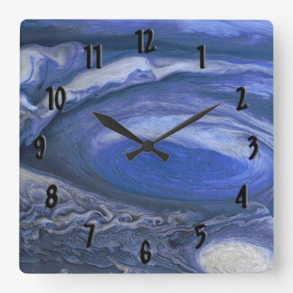 Jupiter Storm Square Wall Clock