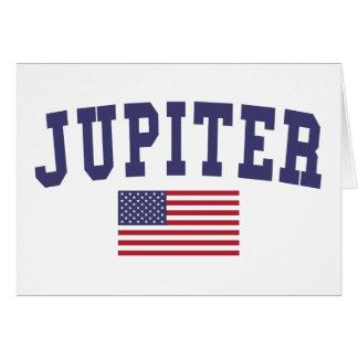 Jupiter US Flag Card
