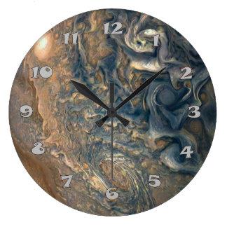 Jupiter's Clouds Large Clock