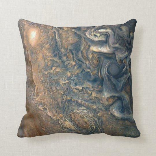 Jupiter's Clouds Throw Pillow
