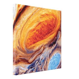 Jupiter's Great Red Spot - NASA Voyager Photo Canvas Print