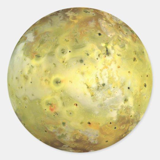 Jupiter's Moon Io Classic Round Sticker