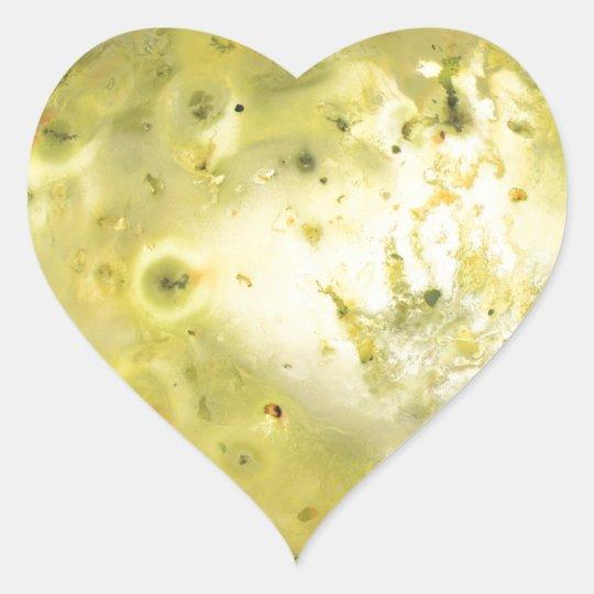 Jupiter's Moon Io Heart Sticker