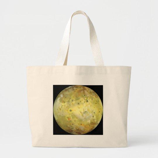 Jupiter's Moon Io Large Tote Bag