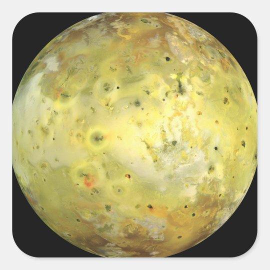 Jupiter's Moon Io Square Sticker