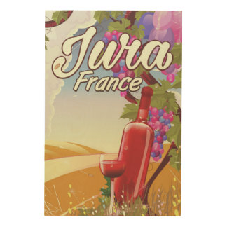 Jura France vineyard travel poster
