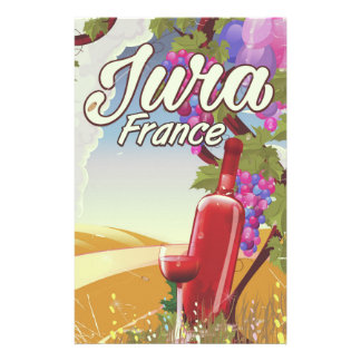 Jura France vineyard travel poster Stationery