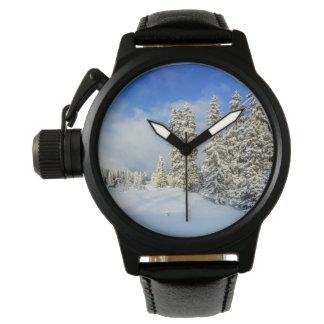 Jura mountain in winter, Switzerland Wristwatch