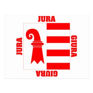 Jura Switzerland Canton Flag Post Cards
