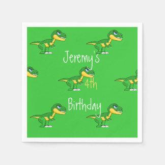 Jurassic Dinosaurs Cute Boys Birthday Disposable Napkin