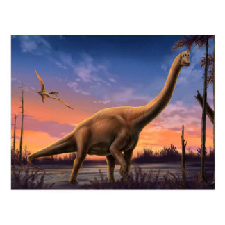 Jurassic Dinosaurs Postcard