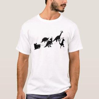Jurassic Santa Sleigh With Dinosaurs T-Shirt