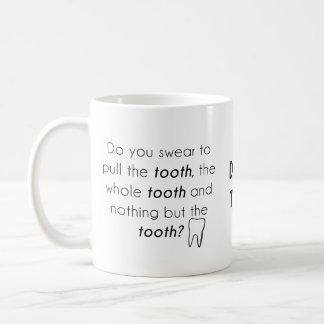Jurez-vous ? mug blanc