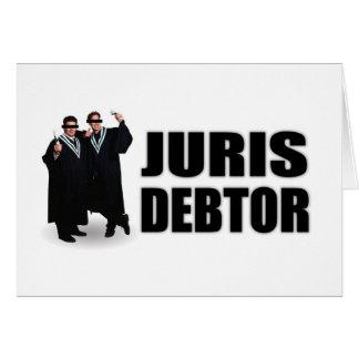 """Juris Debtor"" Notecards Card"