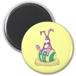 Jus Chillin' Easter Bunny on decorated egg Magnet