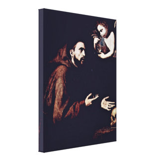 Jusepe de Ribera - St Francis of Assisi Canvas Print