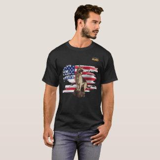 Just4GSD German Shepherd guarding the USA flag T-Shirt