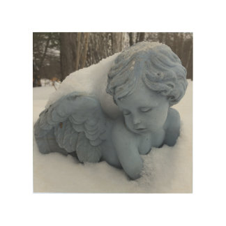 Just a chill in the air Angel Art Wood Print