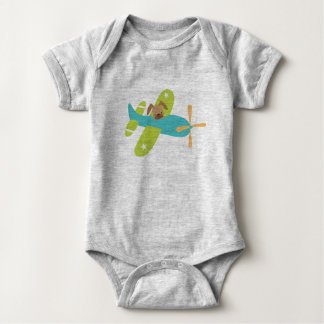 Just a dog in a plane Unisex Jumper Baby Bodysuit