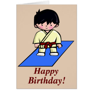 Just a Gup Martial Arts birthday card