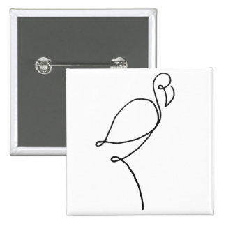 """Just a Line"" Flamingo Design Button"