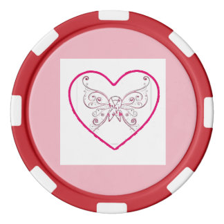 just a little bit of heart poker chips