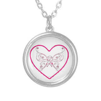just a little bit of heart silver plated necklace