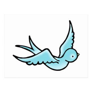 Just a Little Blue Bird Postcard