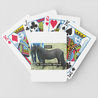 Just a little horse bicycle playing cards