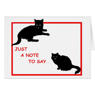 Just a Note Black Cats Card