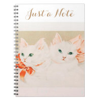 Just a note vintage kittens cat drawing cute