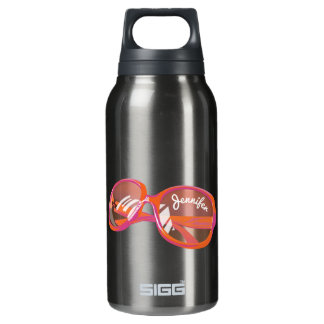 Just A Pair Of Glasses - Monogrammed - 3 Insulated Water Bottle