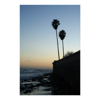 just a pair of palm trees poster