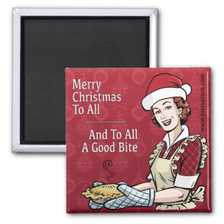Just A Pinch Merry Christmas Refrigerator Magnet
