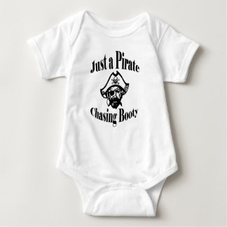 Just a Pirate Chasing Booty - Black Face Baby Bodysuit